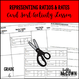 Representing Ratios and Unit Rates Card Sort Activity Lesson