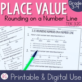 Representing & Rounding Numbers on a Number Line Activities