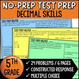 Representing, Rounding, and Comparing Decimals Problems {Common Core Test Prep}