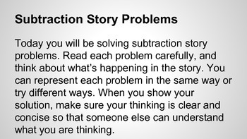 Representing Subtraction Problems 5.4.1