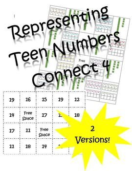 Representing Teen Numbers Connect 4 (11-19)
