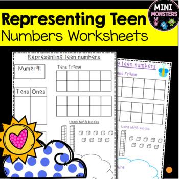 Representing Teen Numbers in Multiple Ways Worksheet