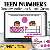 Teen Number Identification Digital Centers for Seesaw | Te