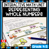 Representing Whole Numbers Interactive Notebook Grades 4-5