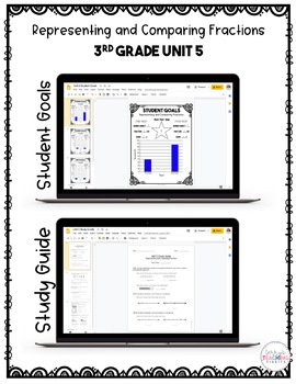 Representing and Comparing Fractions Test Pack *3rd Grade Unit 5* {Paperless}