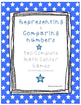 Representing and Comparing Numbers  2 Math Centers with recording sheets