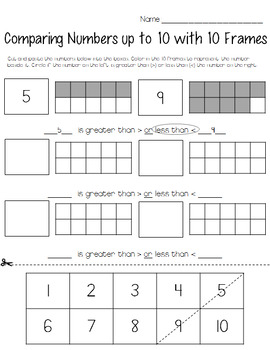 Representing and Comparing Numbers- Action & Wrap Up- Hands On Activities