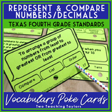 Representing and Comparing Whole Numbers and Decimals: Vocabulary Poke Cards