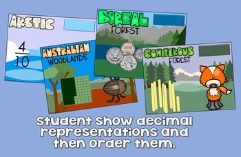 Representing and Converting Decimals (with food chains) GOOGLE CLASSROOM