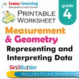 Representing and Interpreting Data Printable Worksheet, Grade 4