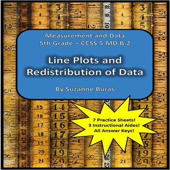 Representing and Interpreting Data in Line Plots and Redistribution:  5.MD.B.2