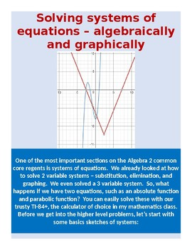 Representing and solving systems of equations graphically