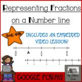 Representing fractions on a number line Google Form - vide