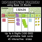 Representing numbers using Base 10 Blocks (printable cards