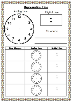 #aubts17 Representing time chart (FREEBIE)