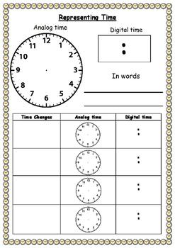Representing time chart (FREEBIE)