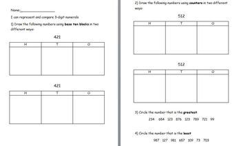 Represents and Compares Numbers Quiz