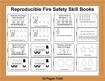 Reproducible Fire Safety Skill Books