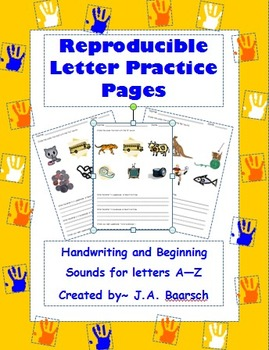 Reproducible Letter Practice Pages
