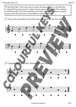 Reproducible Music Theory Workbook: Thinking Theory Book Two