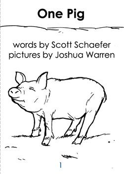 Reproducible - One Pig - Counting Up book - Predictable Print - Emergent Reader
