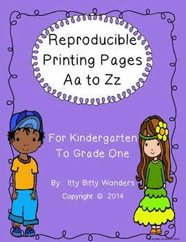Alphabet - Reproducible Printing Pages Aa to Zz