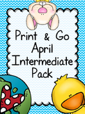 April Print & Go Intermediate Math & Literacy Pack (including Easter Printables)