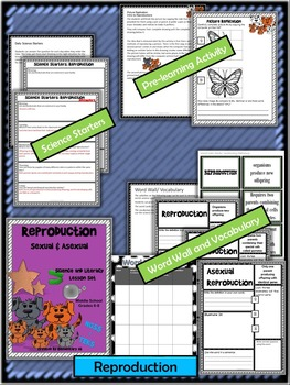 Reproduction Complete Lesson Set (NGSS) Middle School