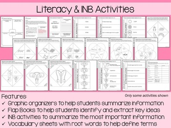 Reproduction and Development Coloring and Science Literacy Unit