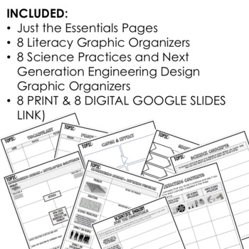 Reproduction Outline Notes, Reproduction Bullet Notes, NGSS