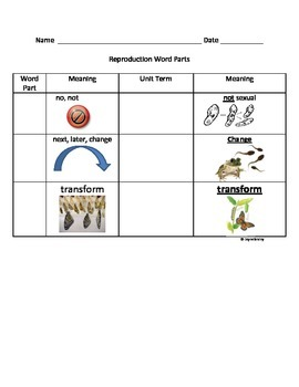 Reproduction Root Word Parts