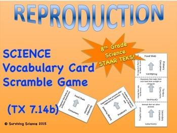 Reproduction: Vocabulary Scramble Card Game (TEK 7.14B)