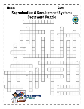 Reproduction and Development System Crossword Puzzle