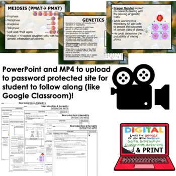 Reproduction and Heredity  Interactive Guided Notes and PowerPoints NGSS, Google