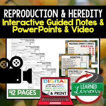 Reproduction and Heredity Guided Notes and PowerPoints NGSS, Google