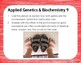 Applied Genetics & Biochemistry Bell Ringer or Exit Ticket Digital Task Card Set