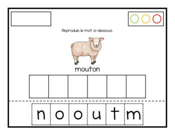 Reproduction de mots (À la ferme)