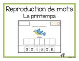 Reproduction de mots (Le printemps)