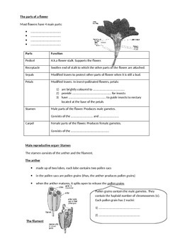 Reproduction in Plants (students' handout)