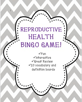 Health:  Reproductive Health Bingo!