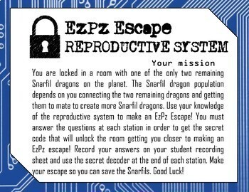 Reproductive System Escape Room