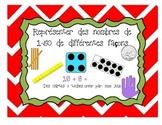 Cartes à tâches: Représenter des nombres de 1-50 de différentes façons