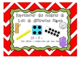Cartes à tâches: Représenter des nombres de 1-50 de différ