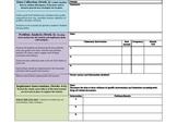 Repsonse to Intervention (RtI)/ Problem Solving Teacher Work Flow Worksheet