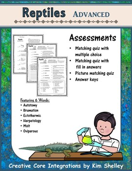 Reptile Advanced Vocabulary Assessment