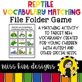 Reptile & Amphibian Vocabulary Folder Game for Special Education