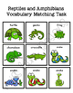 Reptile & Amphibian Vocabulary Folder Game for students wi