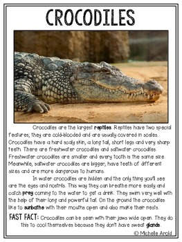 Reptile Close Reading Passages (FREEBIE)