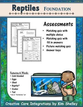 Reptile Foundation Vocabulary Assessment