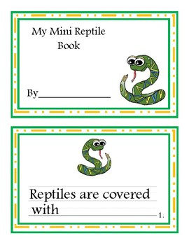 Reptile Mini Books
